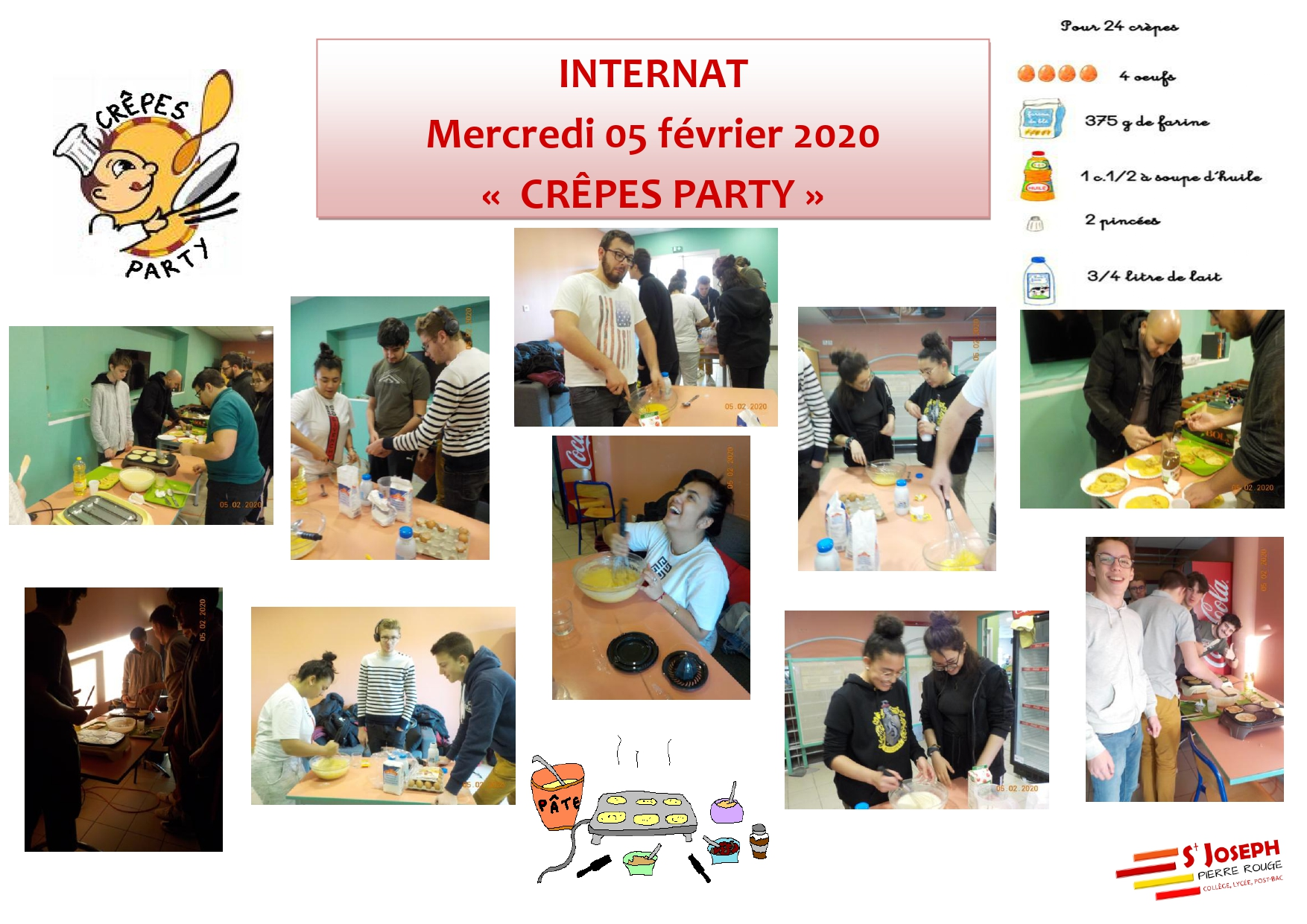 INTERNAT CREPES PARTY 5 fvrier 2020