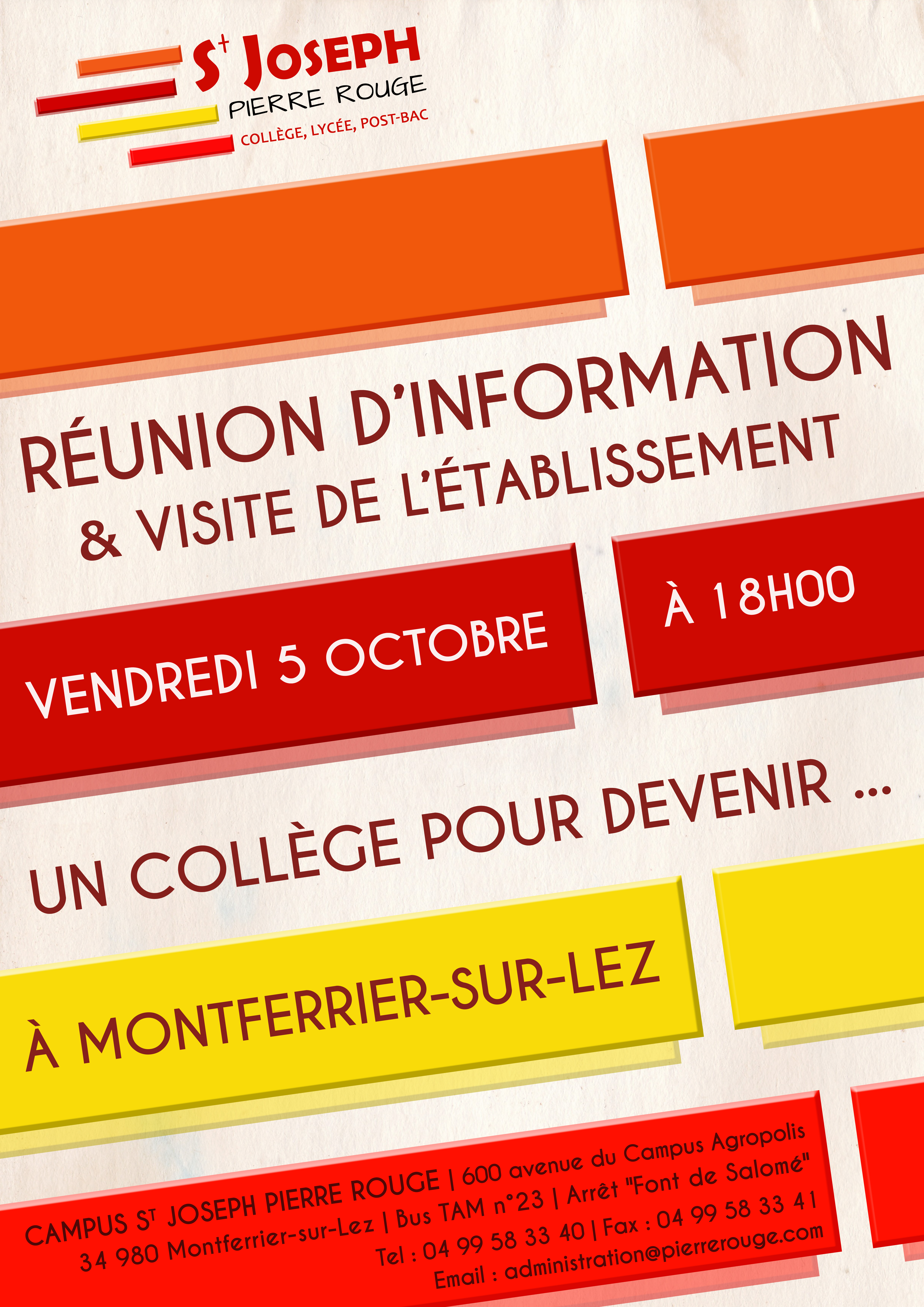 Affiche Runion dinformation rentre V4 2018 2